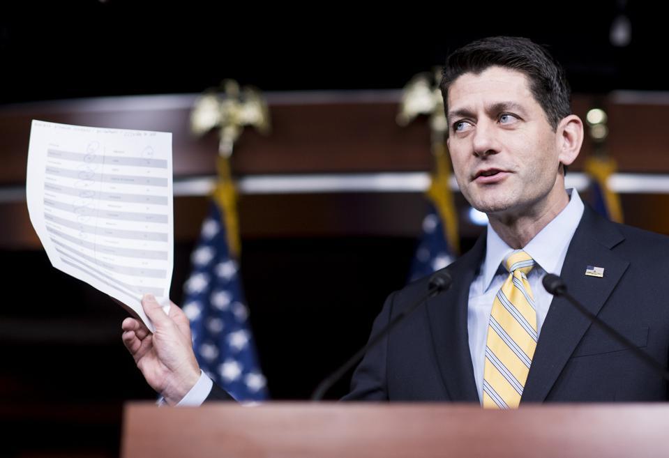 Speaker of the House Paul Ryan...